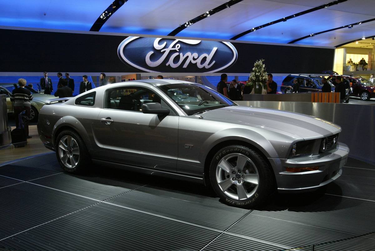 NAIAS 2004- 2005 Ford Mustang on Display Tuesday during the last Press Preview day at the North Amer