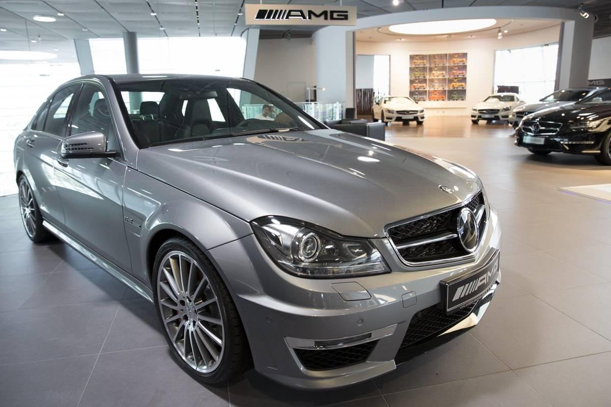 Mercedes-AMG Showroom in Stuttgart, Germany