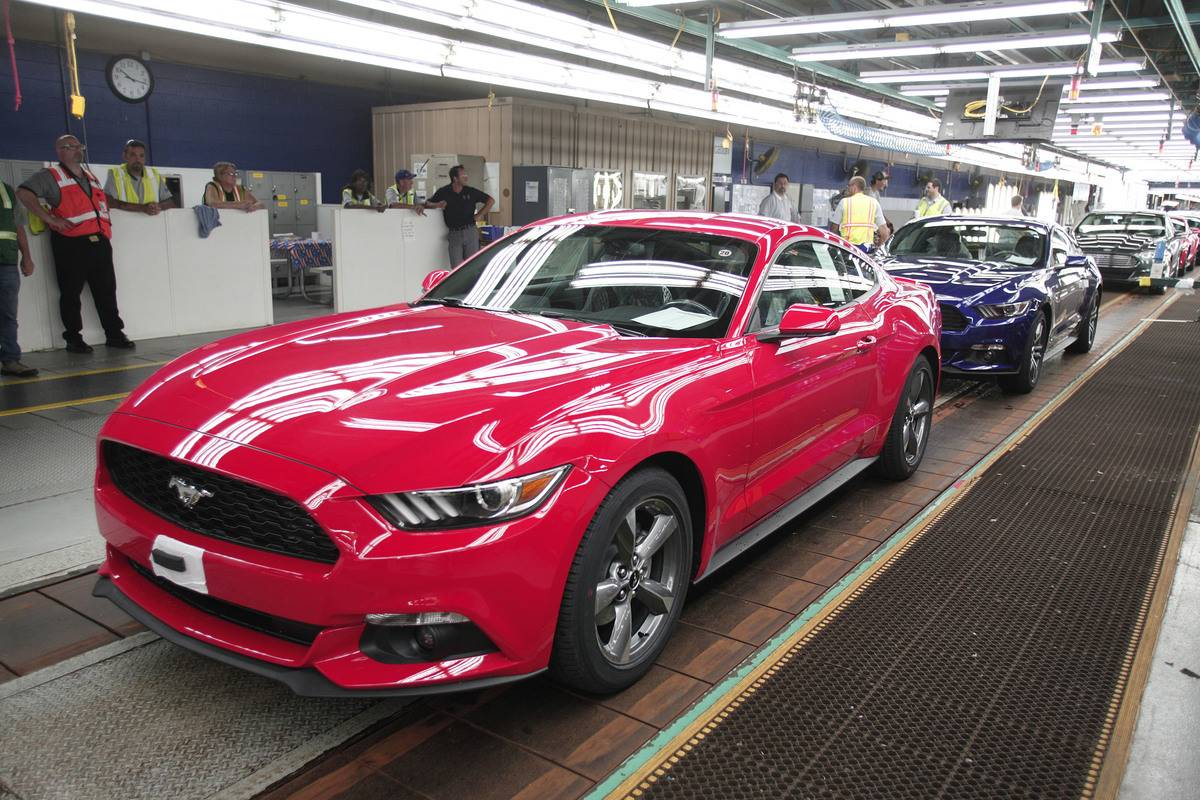 Ford Executive Chairman Bill Ford Makes Announcement At Ford's Flat Rock Assembly Plant