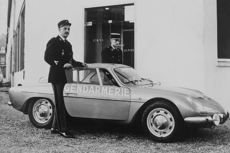 Alpine Renault Police Car For Freeway Traffic Surveillance On April 1966.
