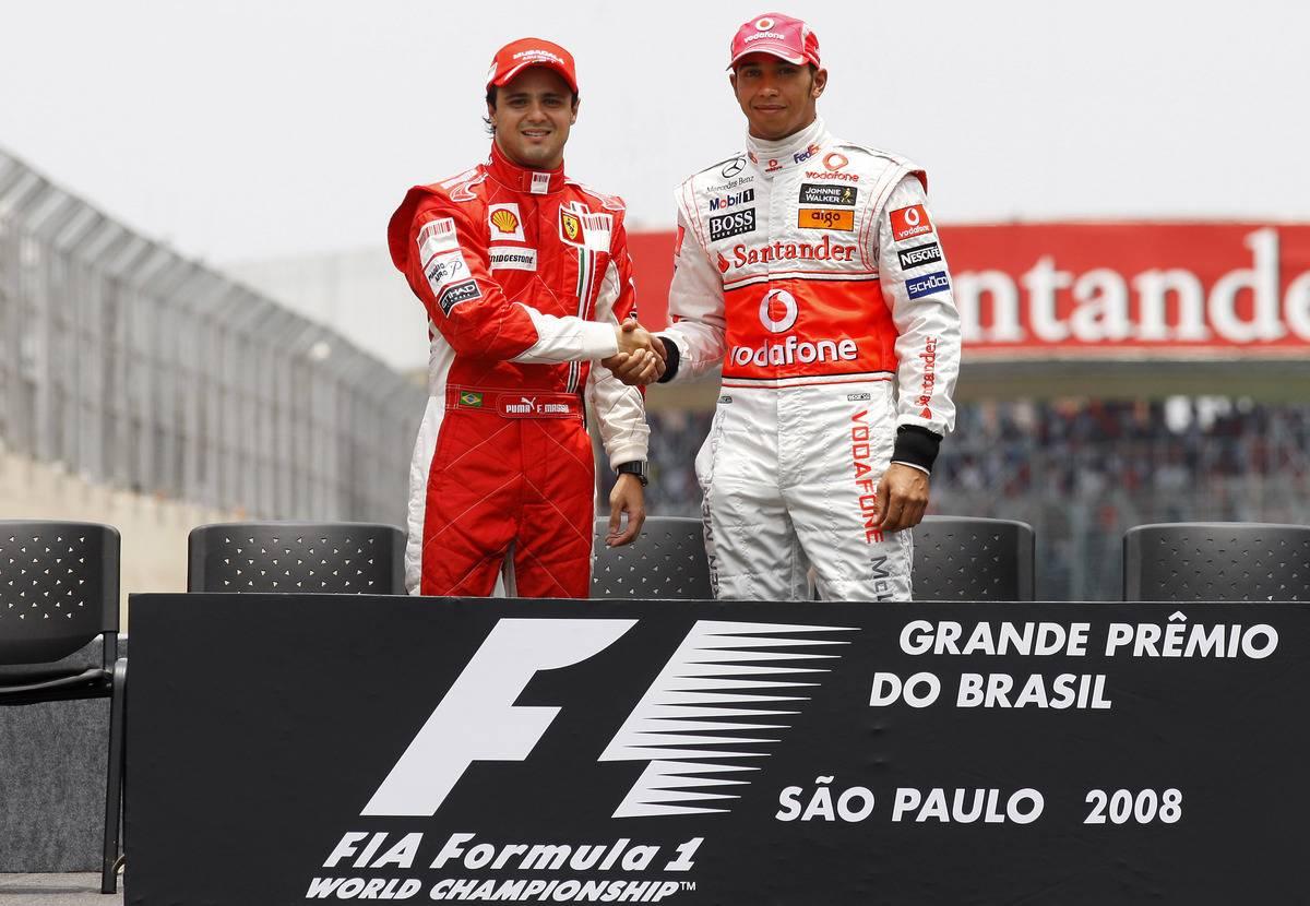 Felipe Massa, Ferrari, Lewis Hamilton, McLaren, 2008 Brazilian Grand Prix