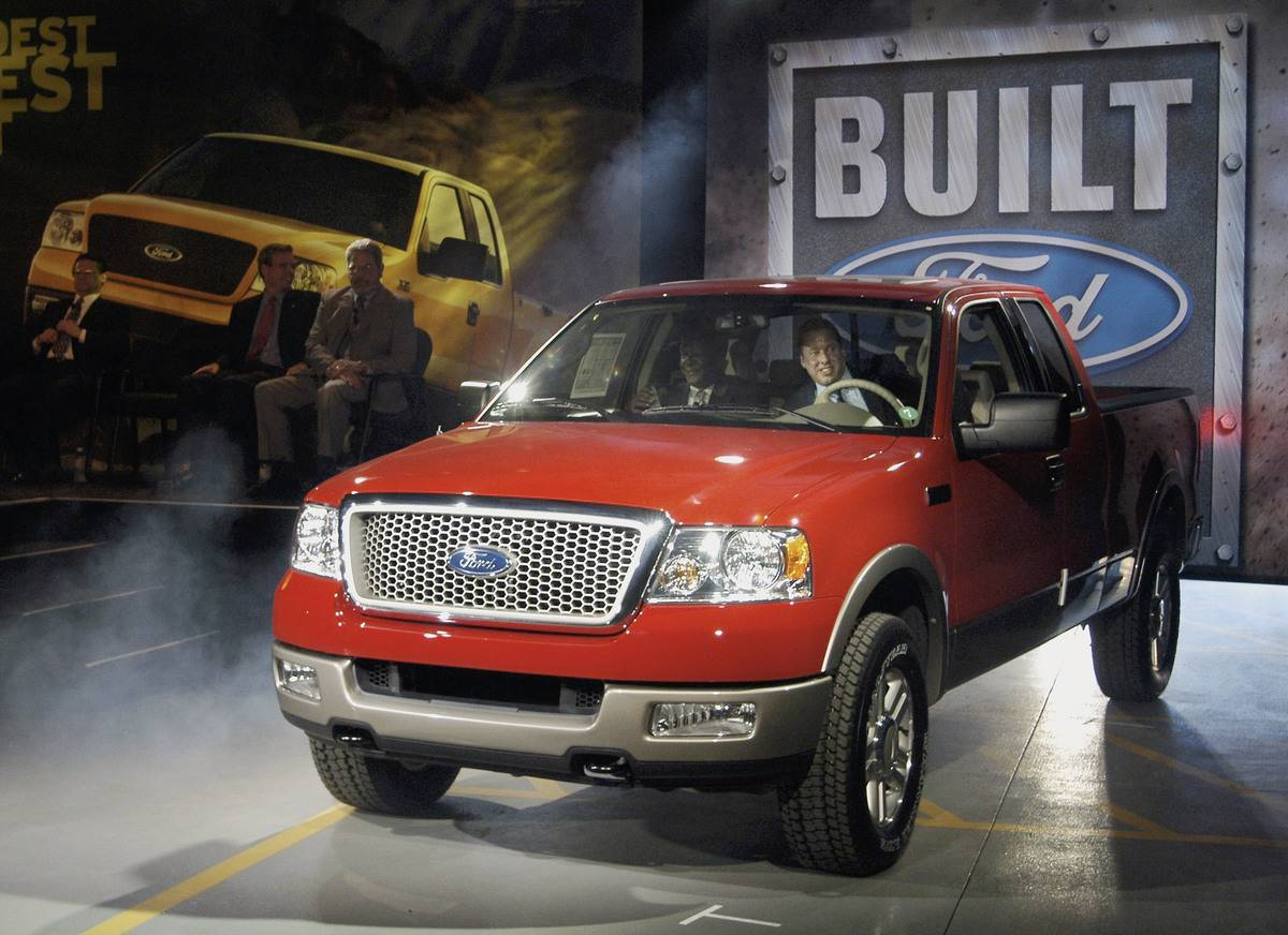 Ford Rollout First 2004 F-150 Pickup Truck In Norfolk, VA