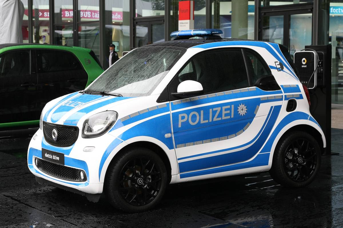 Smart Fortwo Electric Drive Police car