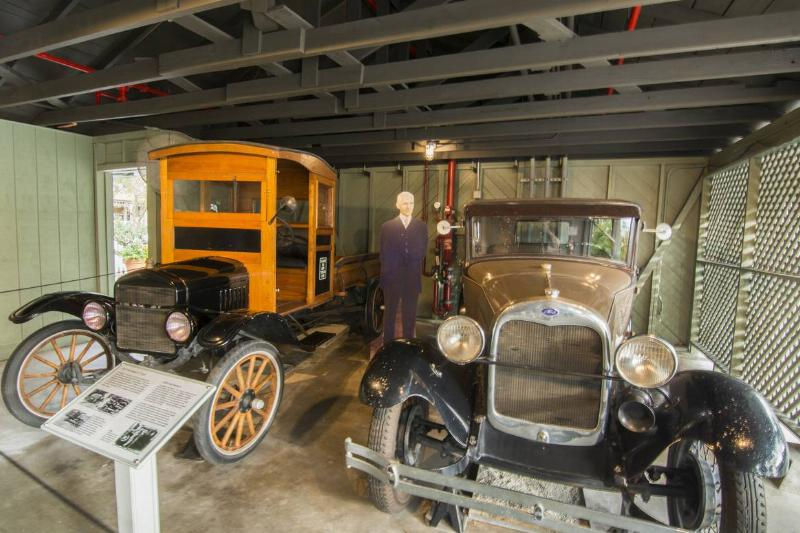 Henry Ford automobile and Ford home and museum in Ft Myers Florida