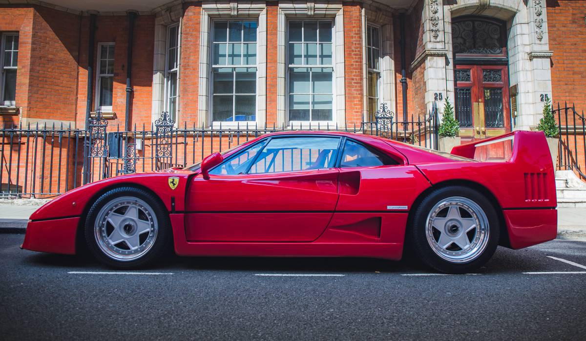The Ferrari F40...