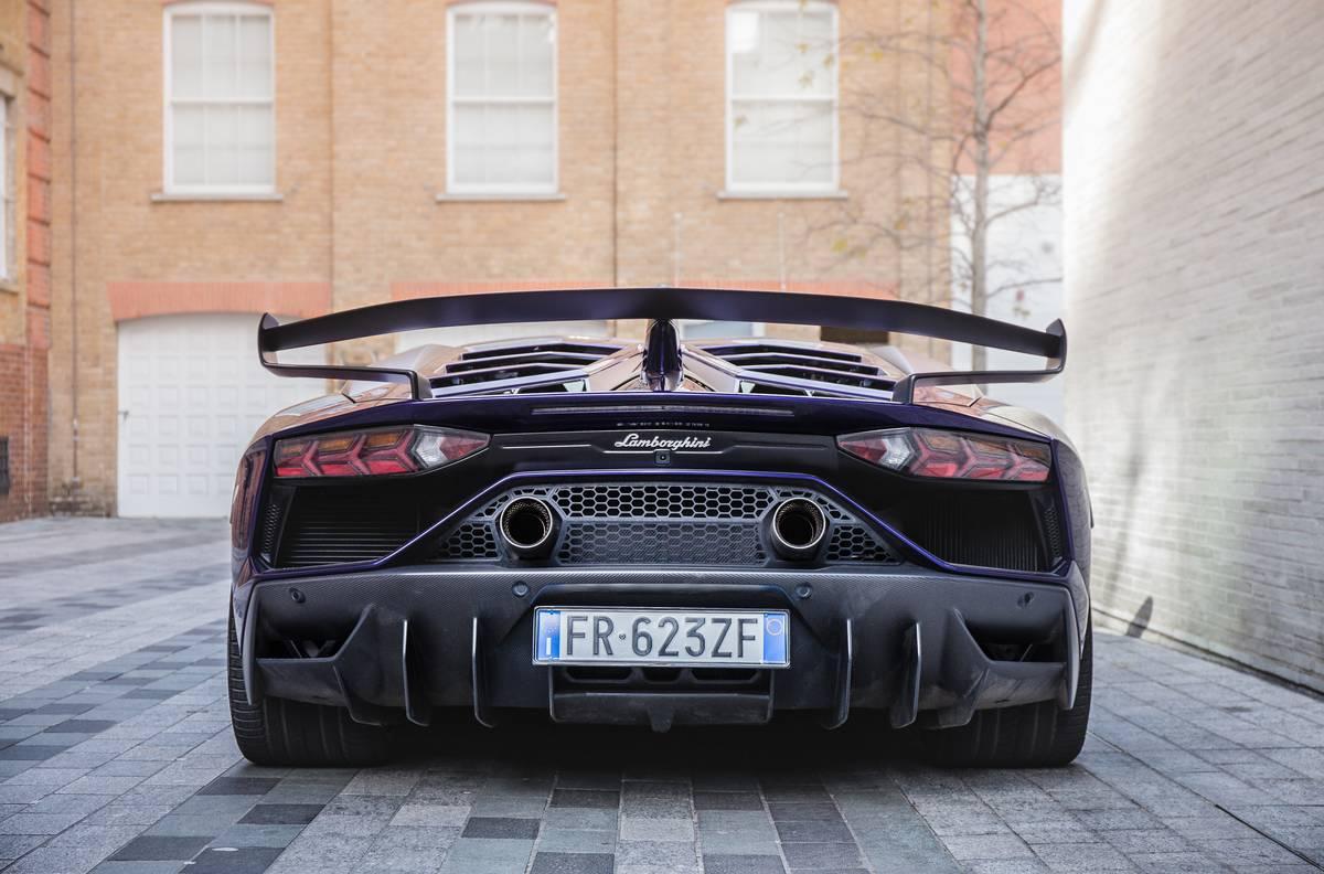The Lamborghini Aventador SVJ...