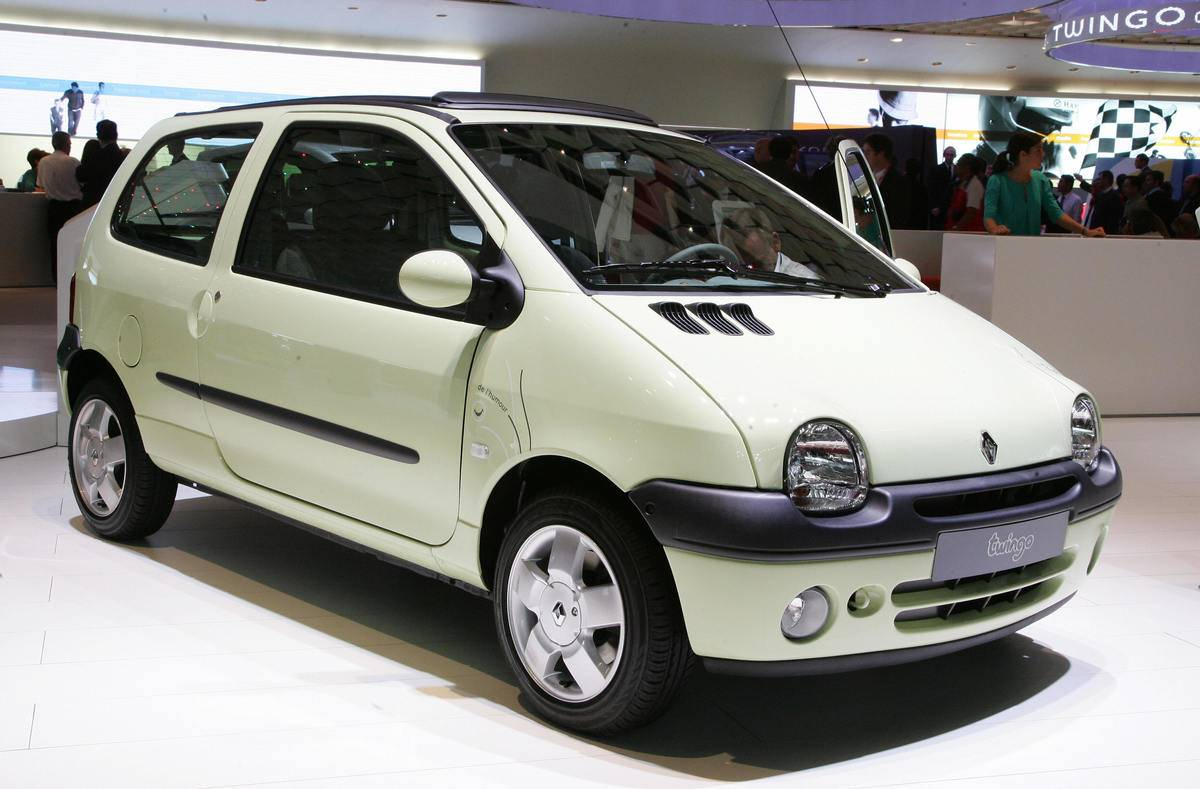 A Renault Twingo is presented during t