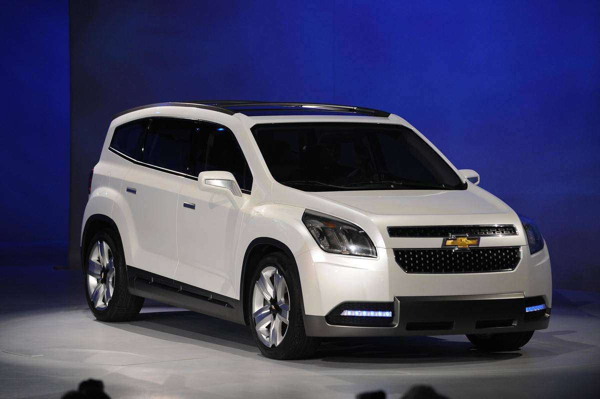 The The Chevrolet Orlando is unveiled du