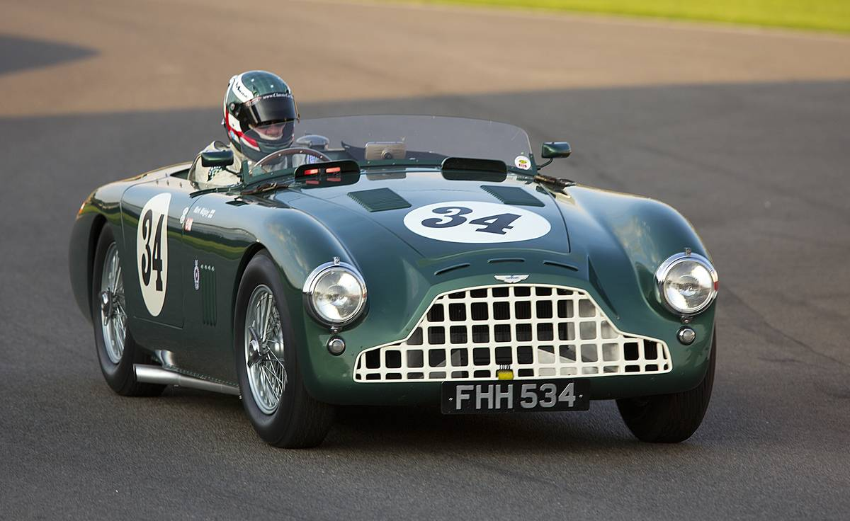 Mark Midgley driving 1952 Aston Martin DB3, Freddie March Memorial Trophy at the Goodwood Revival Me