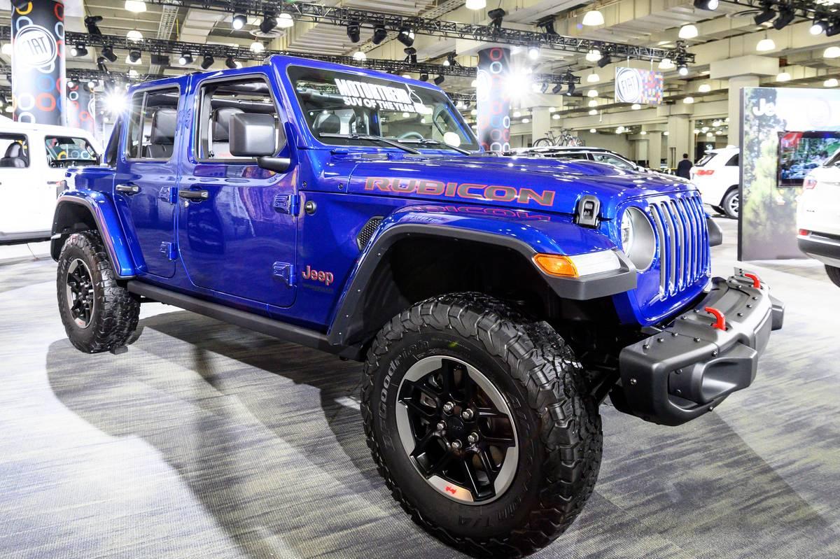 Jeep Gladiator Rubicon seen at the New York International...