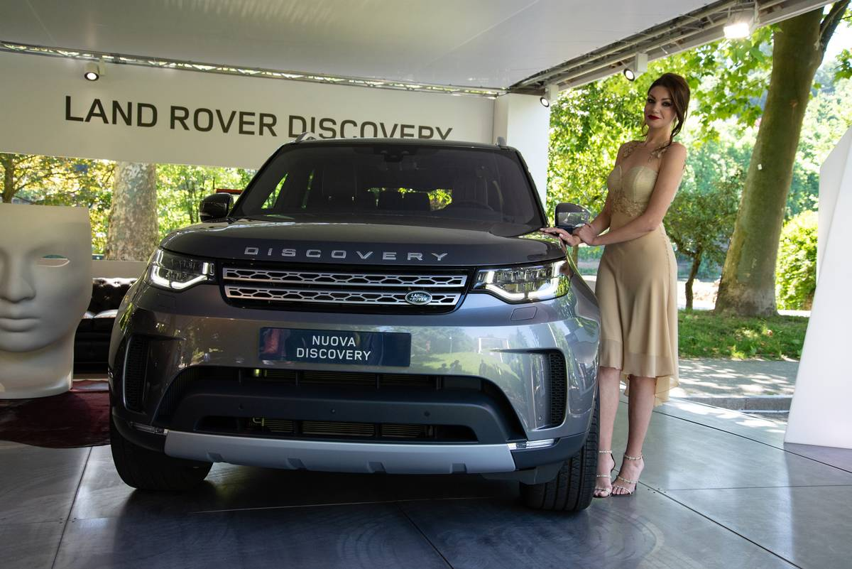 Land Rover Discovery being exhibited during the Turin Motor...