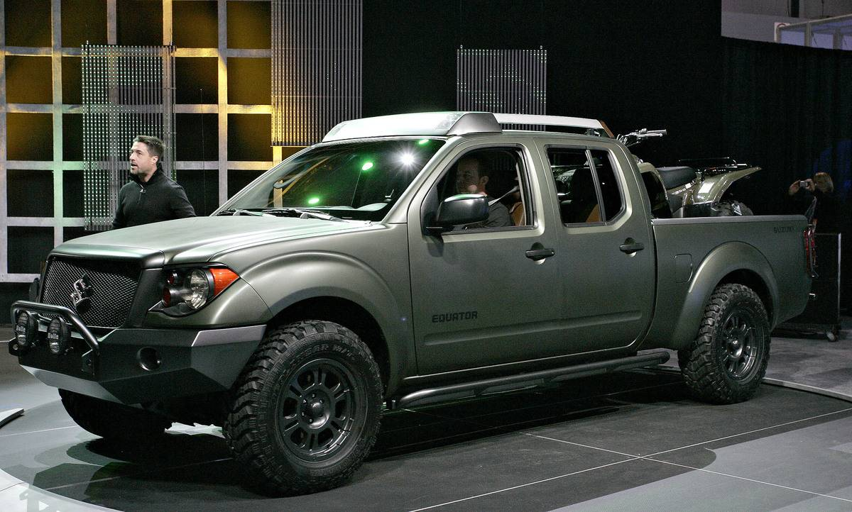 The Suzuki Equator concept sits on display during the Chicag