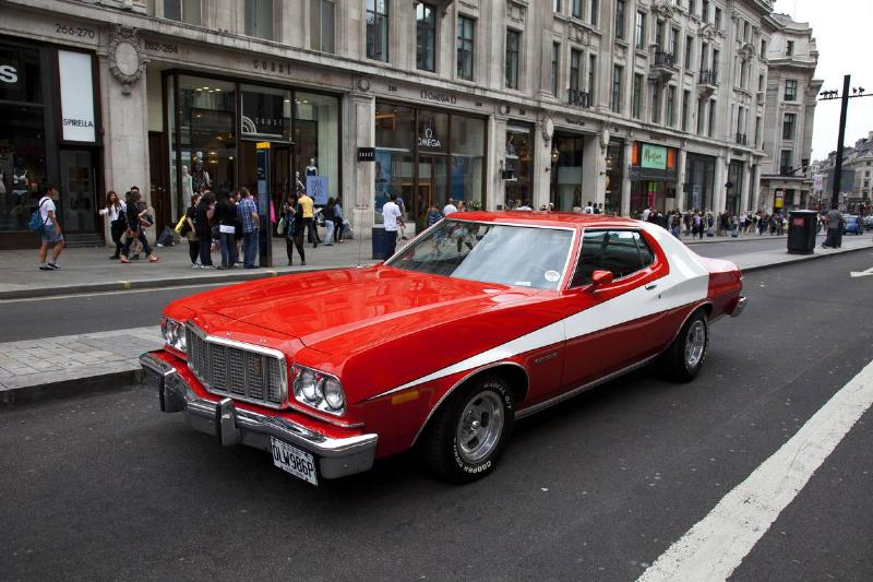 UK - London - Ford Gran Torino used in hit American movie and tv show Starsky and Hutch