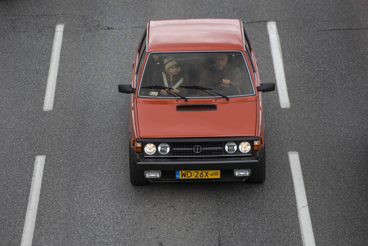 Dozens of Polonez vehicles passed through the streets of...