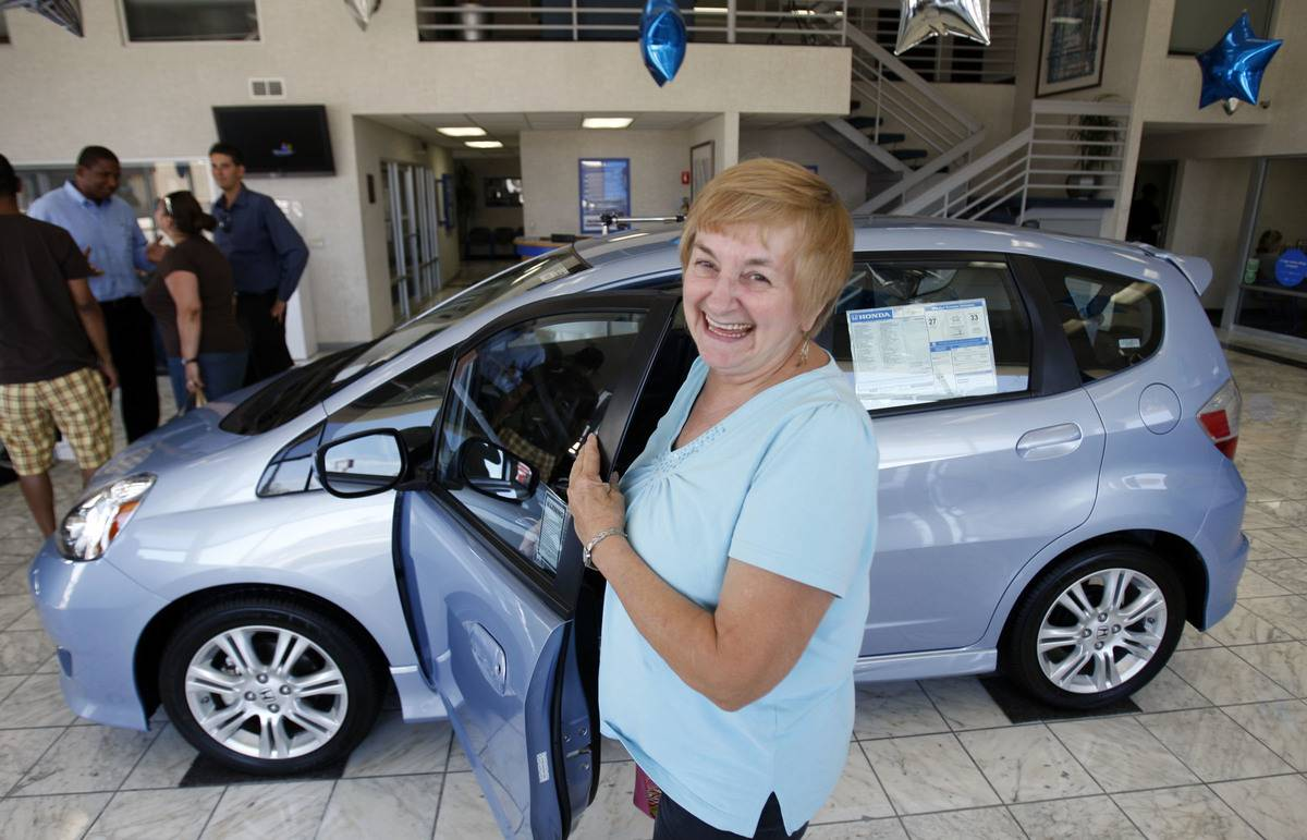 Evelyn McKernan, of Marina Del Rey, traded in her 1995 Dodge Grand Caravan that got about 16 MPG fo