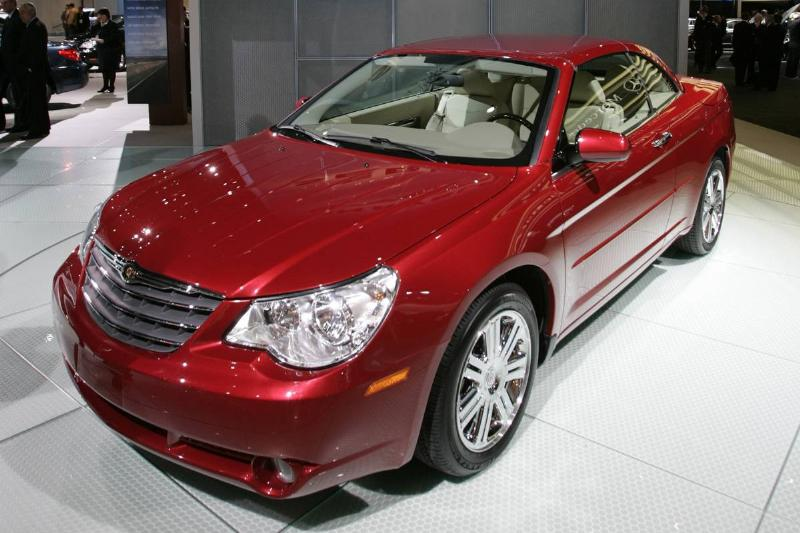 NAIAS 2007: The new Chrysler Sebring hardtop convertible seen on the second press day of the North A