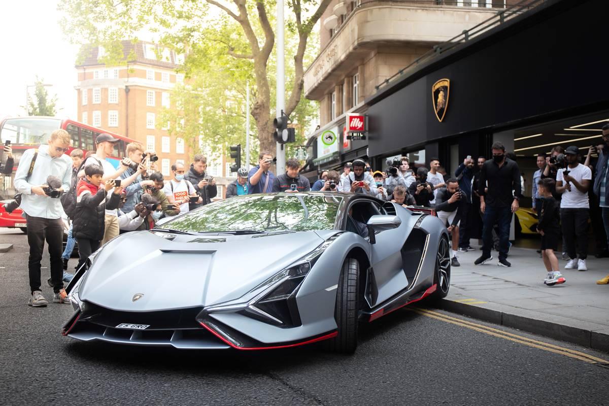 The Lamborghini Sian FKP 37...