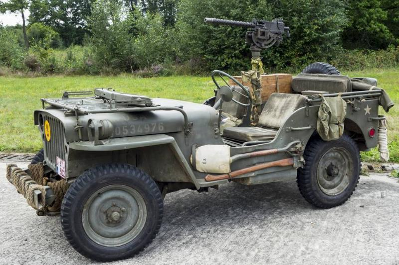 World War Two US Army Willys MB jeep.