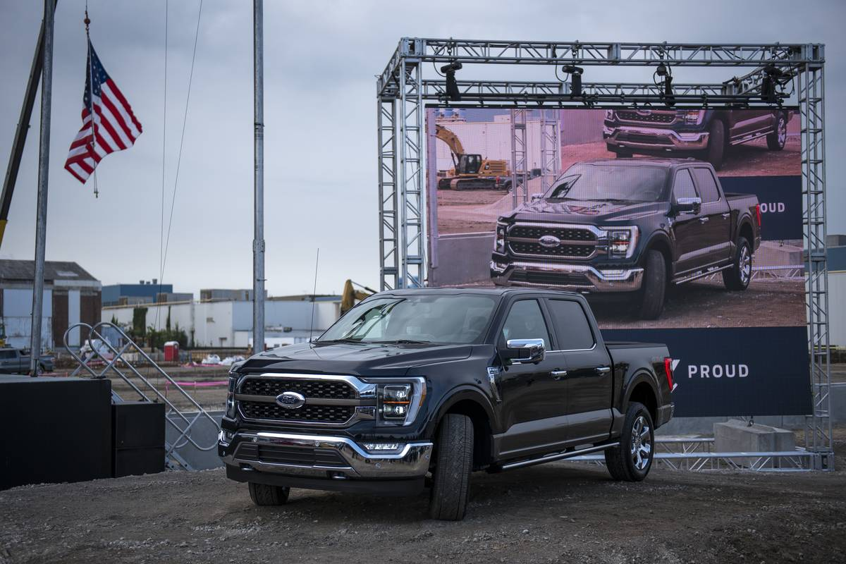 Ford Debuts New F-150 Pickup Truck At Dearborn Plant