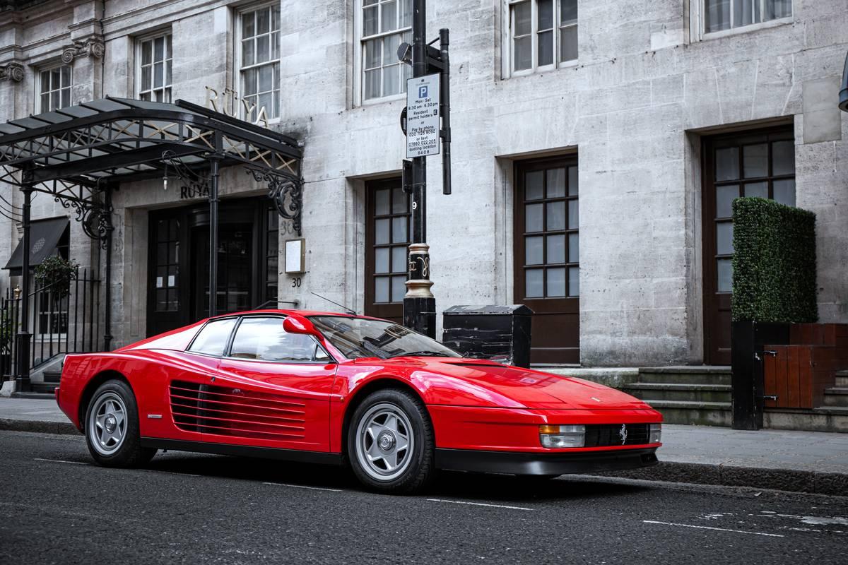 The Ferrari Testarossa...